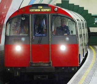 Image of a London Tube train in a tunnel