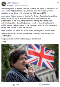 """A game changer"" - FLA supporters back Anne Marie Waters announcement"
