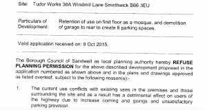 ISLAMIC CENTRE STILL ON SITE TWO YEARS AFTER COUNCIL REFUSAL