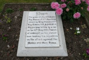 The marked grave which dares not speak its name