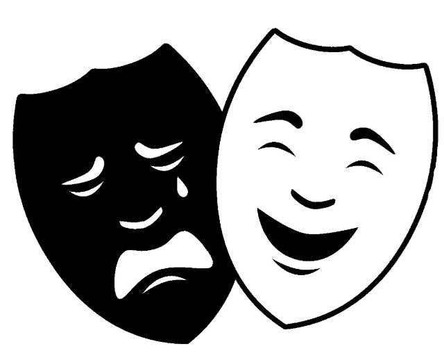 Image of twin masks representing the arts