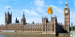 Trump vs Khan = balloons over London