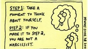 image of a cartoon about narcissism